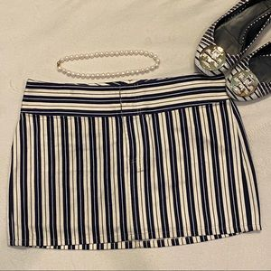 Alice + Olivia Scoop Striped Mini Skirt
